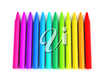 Royalty Free Clipart Image of Colourful Crayons