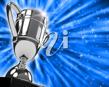 Royalty Free Clipart Image of a Silver Trophy