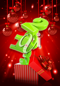 Happy new year 2013 3d background .