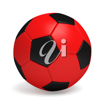 Perfect Soccer ball or football. Computer generated image