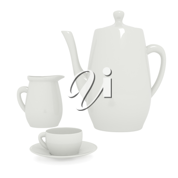Teapot isolated on white. 3d render