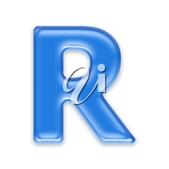 Royalty Free Clipart Image of a Letter 'R'