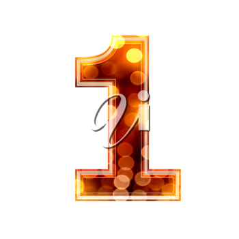 Royalty Free Clipart Image of a Number One