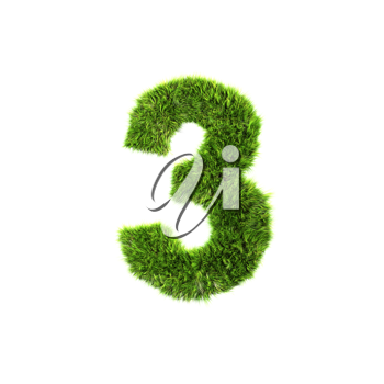 Royalty Free Clipart Image of a Number Three