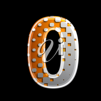 Royalty Free Clipart Image of a Number Zero