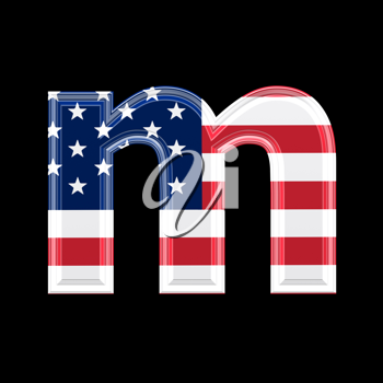 Royalty Free Clipart Image of an American Flag 'm'