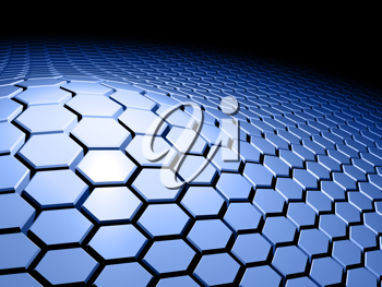 Royalty Free Clipart Image of a Hexagon Pattern