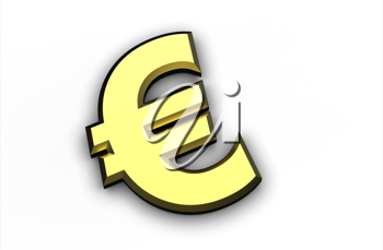 Royalty Free Clipart Image of a Euro Symbol