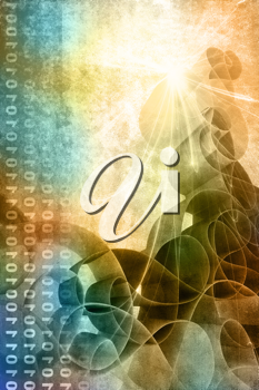 Royalty Free Clipart Image of a Binary Background