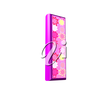 3d pink letter isolated on a white background - i