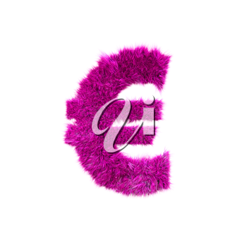 Pink grass currency sign - Euro