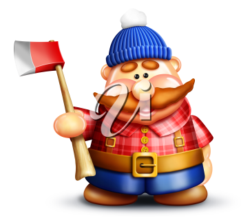 Royalty Free Clipart Image of a Lumberjack