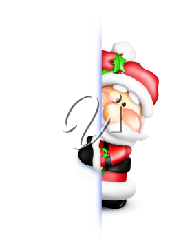 Royalty Free Clipart Image of Santa Claus