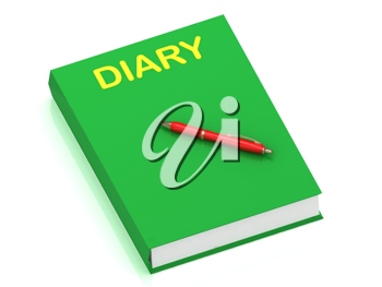 Royalty Free Clipart Image of a Book With the Word Diary