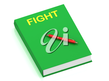 Royalty Free Clipart Image of a Book With the Word Fight