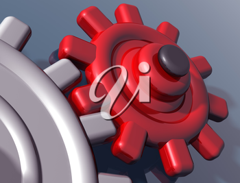 Royalty Free Clipart Image of a Cogs and Gears
