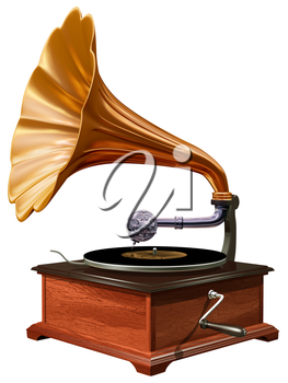 Royalty Free Clipart Image of a Gramophone