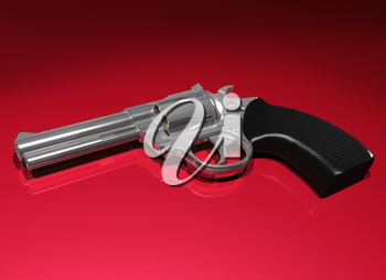 Royalty Free Clipart Image of a Handgun