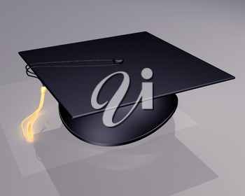Royalty Free Clipart Image of a Graduation Hat