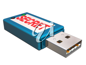 Royalty Free Clipart Image of a Memory Stick