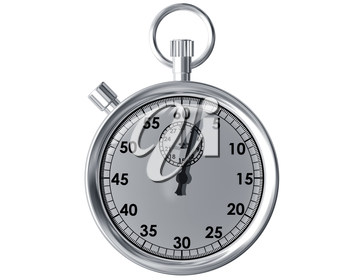Royalty Free Clipart Image of a Stopwatch on a White Background