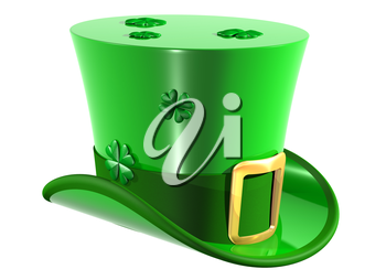 Isolated illustration of an Irish leprechaun top hat