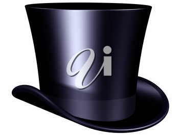 Isolated illustration of an elegant top hat