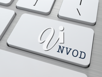 NVOD. Information Technology Concept. Button on Modern Computer Keyboard. 3D Render.