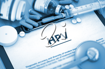 HPV Diagnosis, Medical Concept. Composition of Medicaments. HPV, Medical Concept with Selective Focus. HPV - Medical Report with Composition of Medicaments - Pills, Injections and Syringe. 3D.