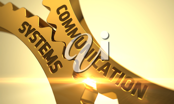 Communication Systems - Industrial Illustration with Glow Effect and Lens Flare. 3D Render.