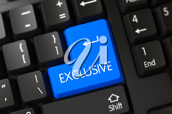 A Keyboard with Blue Keypad - Exclusive. 3D Render.