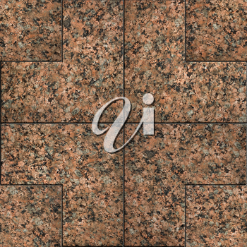 Red Marble or Granite. Seamless Tileable Texture with Geometric Pattern.