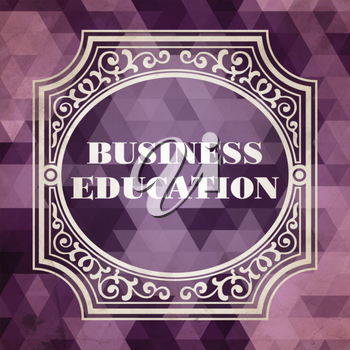 Best Practice Concept. Vintage design. Purple Background made of Triangles.