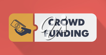 Crowd Funding Concept in Flat Design with Long Shadows.