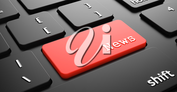 News on Red Keyboard Button Enter on Black Computer Keyboard.