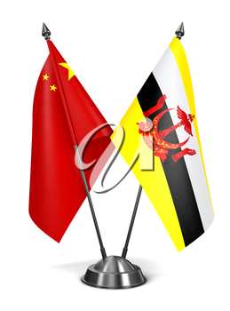 Royalty Free Clipart Image of the China and Brunei Miniature Flags
