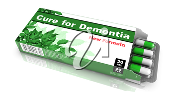 Royalty Free Clipart Image of a Cure for Dementia Pills