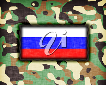 Amy camouflage uniform with flag on it, Russia