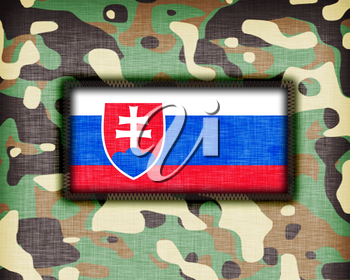 Amy camouflage uniform with flag on it, Slovakia