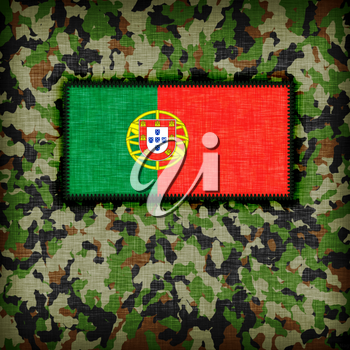 Amy camouflage uniform with flag on it, Portugal