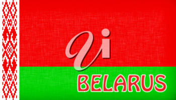 Flag of Malawi stitched with letters, isolated
