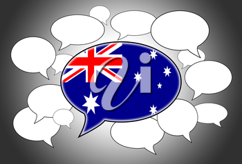Speech bubbles concept - the flag of australia