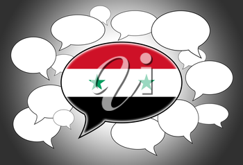 Communication concept - Speech cloud, the voice of Syria