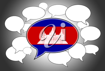 Communication concept - Speech cloud, the voice of Cambodia