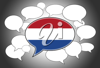 Communication concept - Speech cloud, the voice of the Netherland