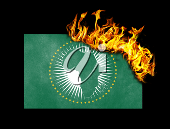 Flag burning - concept of war or crisis - African Union