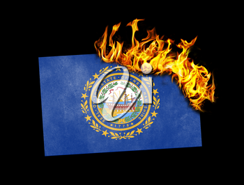 Flag burning - concept of war or crisis - New Hampshire