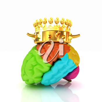 Gold Crown on the brain