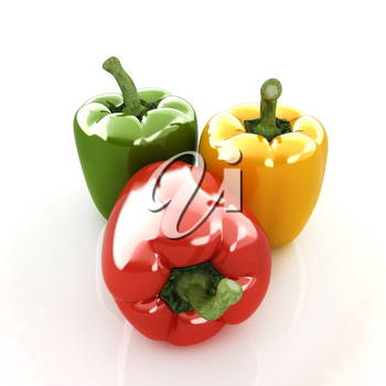 sweet pepper on white background
