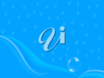 Blue water drops background texture